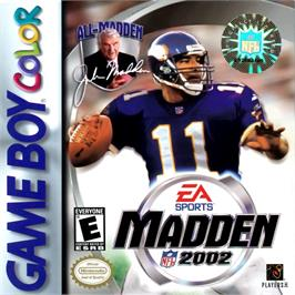 Box cover for Madden NFL 2002 on the Nintendo Game Boy Color.