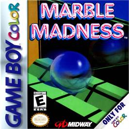 Box cover for Marble Madness on the Nintendo Game Boy Color.