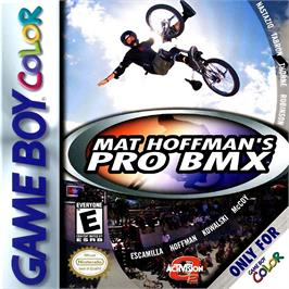 Box cover for Mat Hoffman's Pro BMX on the Nintendo Game Boy Color.