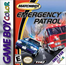 Box cover for Matchbox: Emergency Patrol on the Nintendo Game Boy Color.
