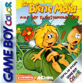 Box cover for Maya the Bee - Garden Adventures on the Nintendo Game Boy Color.