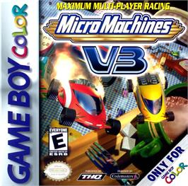 Box cover for Micro Machines V3 on the Nintendo Game Boy Color.