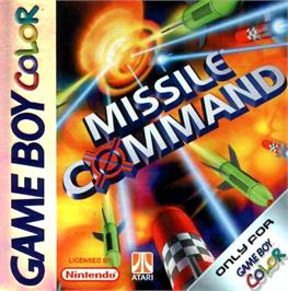Box cover for Missile Command on the Nintendo Game Boy Color.
