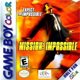 Box cover for Mission Impossible on the Nintendo Game Boy Color.
