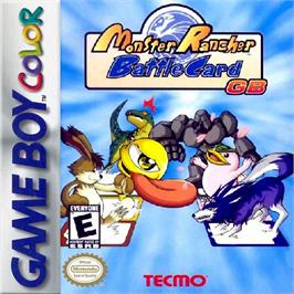 Box cover for Monster Rancher BattleCard GB on the Nintendo Game Boy Color.