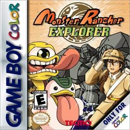 Box cover for Monster Rancher Explorer on the Nintendo Game Boy Color.