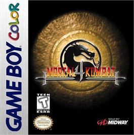 Box cover for Mortal Kombat 4 on the Nintendo Game Boy Color.
