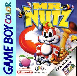 Box cover for Mr. Nutz on the Nintendo Game Boy Color.