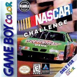 Box cover for NASCAR Challenge on the Nintendo Game Boy Color.