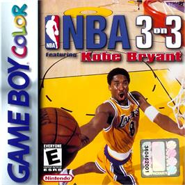 Box cover for NBA 3 on 3 Featuring Kobe Bryant on the Nintendo Game Boy Color.