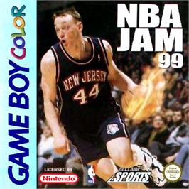 Box cover for NBA Jam 99 on the Nintendo Game Boy Color.