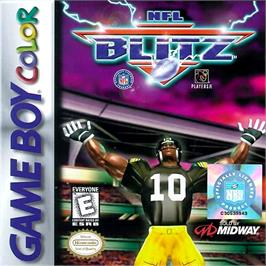 Box cover for NFL Blitz on the Nintendo Game Boy Color.