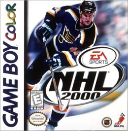 Box cover for NHL 2000 on the Nintendo Game Boy Color.