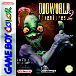 Box cover for Oddworld: Adventures 2 on the Nintendo Game Boy Color.