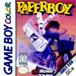 Box cover for Paperboy on the Nintendo Game Boy Color.