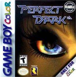 Box cover for Perfect Dark on the Nintendo Game Boy Color.