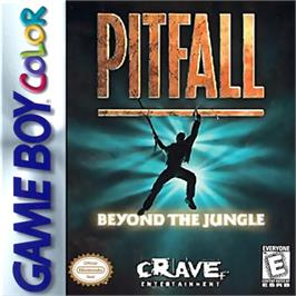 Box cover for Pitfall - Beyond the Jungle on the Nintendo Game Boy Color.