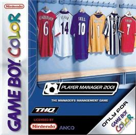 Box cover for Player Manager 2001 on the Nintendo Game Boy Color.