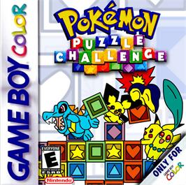 Box cover for Pokemon Puzzle Challenge on the Nintendo Game Boy Color.
