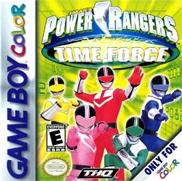 Box cover for Power Rangers: Time Force on the Nintendo Game Boy Color.