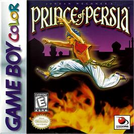 Box cover for Prince of Persia on the Nintendo Game Boy Color.