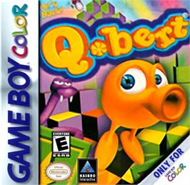 Box cover for Q*Bert on the Nintendo Game Boy Color.