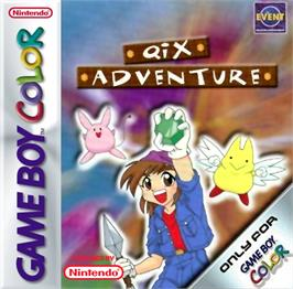 Box cover for Qix Adventure on the Nintendo Game Boy Color.