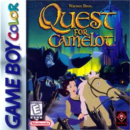 Box cover for Quest for Camelot on the Nintendo Game Boy Color.