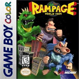 Box cover for Rampage: World Tour on the Nintendo Game Boy Color.