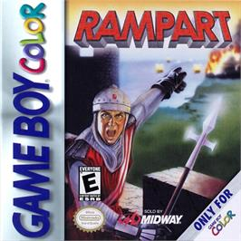 Box cover for Rampart on the Nintendo Game Boy Color.