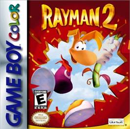 Box cover for Rayman 2: The Great Escape on the Nintendo Game Boy Color.