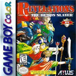 Box cover for Revelations: The Demon Slayer on the Nintendo Game Boy Color.