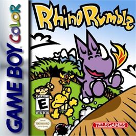 Box cover for Rhino Rumble on the Nintendo Game Boy Color.