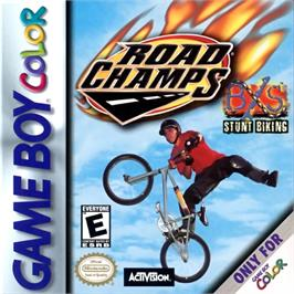 Box cover for Road Champs: BXS Stunt Biking on the Nintendo Game Boy Color.
