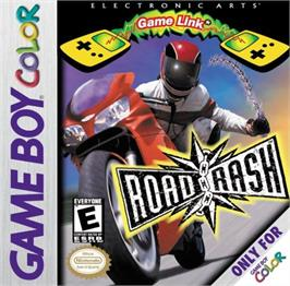Box cover for Road Rash on the Nintendo Game Boy Color.