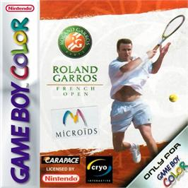 Box cover for Roland Garros French Open 2000 on the Nintendo Game Boy Color.