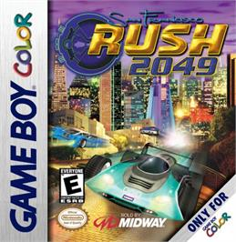 Box cover for San Francisco Rush 2049 on the Nintendo Game Boy Color.