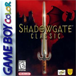 Box cover for Shadowgate Classic on the Nintendo Game Boy Color.