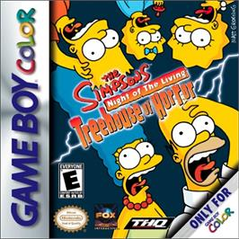 Box cover for Simpsons: Night of the Living Treehouse of Horror on the Nintendo Game Boy Color.