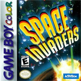 Box cover for Space Invaders on the Nintendo Game Boy Color.