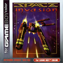 Box cover for Space Invasion on the Nintendo Game Boy Color.