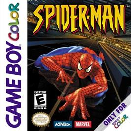 Box cover for Spider-Man on the Nintendo Game Boy Color.