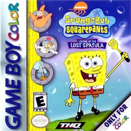 Box cover for SpongeBob SquarePants: Legend of the Lost Spatula on the Nintendo Game Boy Color.