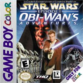 Box cover for Star Wars: Episode I: Obi-Wan's Adventures on the Nintendo Game Boy Color.