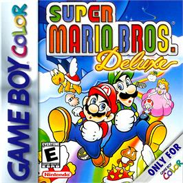Box cover for Super Mario Bros. Deluxe on the Nintendo Game Boy Color.