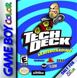 Box cover for Tech Deck Skateboarding on the Nintendo Game Boy Color.