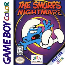 Box cover for The Smurfs Nightmare on the Nintendo Game Boy Color.