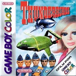 Box cover for ThunderBirds Are Go on the Nintendo Game Boy Color.