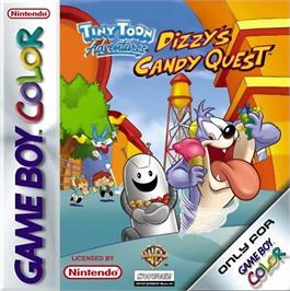 Box cover for Tiny Toon Adventures: Dizzy's Candy Quest on the Nintendo Game Boy Color.