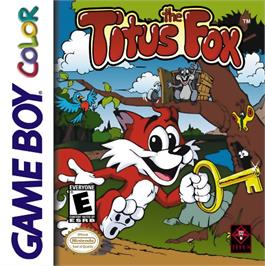 Box cover for Titus the Fox: To Marrakech and Back on the Nintendo Game Boy Color.